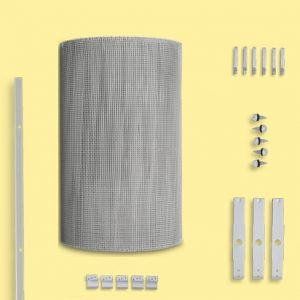 Gutter mesh tile roof kit type